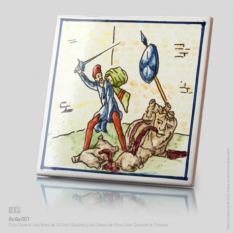 Don Quixote Fighting the Thieves