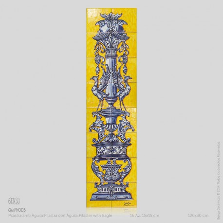 Pilaster with Eagle in Colour