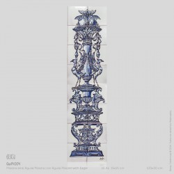 Pilaster with Eagle in Blue
